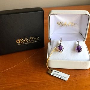 Jewelry - ***FINAL*** 14k White Gold Amethyst Earrings